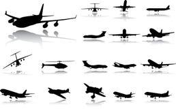Plaats het vliegtuig. Een vector. Royalty-vrije Stock Afbeeldingen