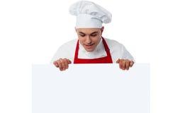 Plaats hier uw restaurantadvertentie Royalty-vrije Stock Foto's