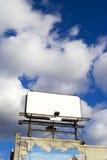 Plaats hier uw tekst - lege advertentieruimte in hemel 1 Royalty-vrije Stock Afbeelding