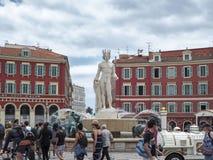 Plaats Masséna, Nice Royalty-vrije Stock Foto