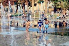 Plaats Massena in Nice, Frankrijk Royalty-vrije Stock Foto's