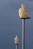 Plaats Massena - Nice Frankrijk: de nieuwe lampen Royalty-vrije Stock Foto