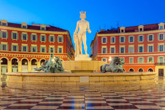 Plaats Massena vierkant Nice, Franse Riviera Royalty-vrije Stock Afbeeldingen