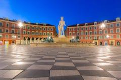 Plaats Massena vierkant Nice, Franse Riviera Stock Afbeeldingen