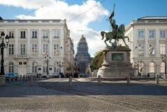 Plaats Royale in Brussel Stock Afbeeldingen