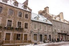 Plaats Royale - de Stad van Quebec Stock Afbeelding