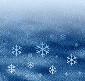 Plaats sneeuwvlokken uit elkaar Stock Foto