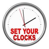 Plaats uw klokken vector illustratie