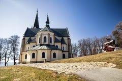 Plaats van christelijke bedevaart - Marianska-hora, Slowakije royalty-vrije stock afbeelding