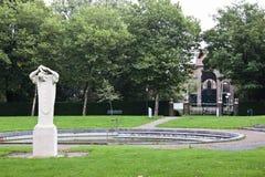 Plaats van Heilige Boniface in Dokkum, Nederland stock foto's