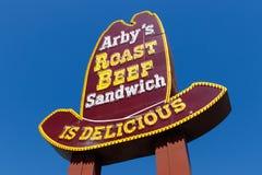 Plaats van het Arby` s de Kleinhandels Snelle Voedsel Arby stelt meer dan 3.300 restaurants I in werking royalty-vrije stock foto