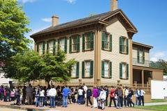 Plaats van het Huis van Lincoln de Nationale Historische in Springfield Stock Fotografie