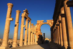 Plaats van Palmyra Syrië stock afbeeldingen