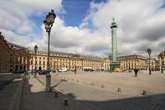 Plaats Vendome op 04 April, 2011 in Parijs. Royalty-vrije Stock Afbeelding