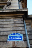 Plaats Vendome in Parijs Royalty-vrije Stock Fotografie