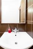 Plaats voor een inschrijving boven de gootsteen in badkamers Royalty-vrije Stock Fotografie