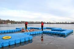 Plaats voor Epiphany in Kiev, de Oekraïne, Stock Foto's