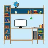 Plaats voor het leren met boeken royalty-vrije illustratie