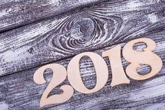 Plaats voor tekst en nummer 2018 Stock Foto's