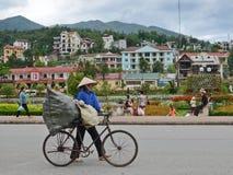 Plaatselijke bevolking in Sapa, Vietnam stock afbeelding