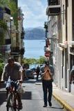 Plaatselijke bewoners in San Juan, Puerto Rico Stock Afbeelding