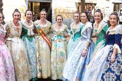 Plaatselijke bewoners in Traditioneel Kostuum stock fotografie