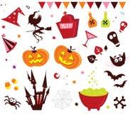 Plaatsen de vectorPictogrammen van Halloween III Stock Fotografie