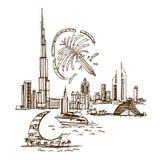 Plaatsen en Architectuur rond de Wereld stock illustratie