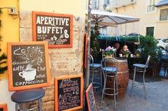 Plaatsen in het district van Trastevere te eten Royalty-vrije Stock Fotografie