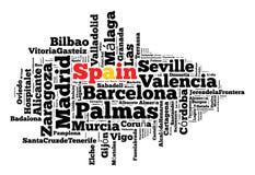 Plaatsen in Spanje Stock Foto