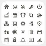 Plaatsend geplaatste pictogrammen Royalty-vrije Stock Afbeeldingen