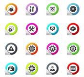 Plaatsend geplaatste pictogrammen Stock Foto's