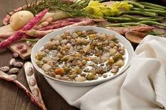 Plaatsende groentesoep Royalty-vrije Stock Foto's