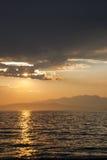 Plaatsende zon Stock Afbeelding