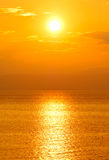 Plaatsende zon Stock Foto