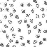 Plaatsgps Vector van het Tellers de Vastgestelde Naadloze Patroon royalty-vrije illustratie
