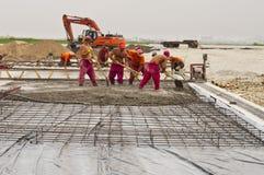 Plaatsing van beton Royalty-vrije Stock Foto