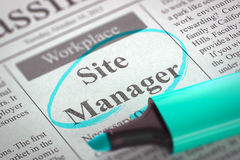 Plaatsmanager Wanted 3d Royalty-vrije Stock Foto