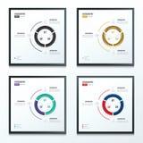 Plaatste cirkel infographic kleur 2 4 stijlen Stock Afbeelding