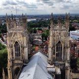 Placé sur York Minster Images stock