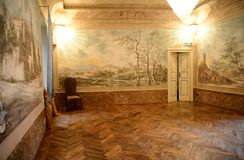 Placência, Italia - 19 de novembro de 2016: Vista interior de um 17o c Fotografia de Stock