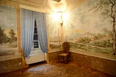 Placência, Italia - 19 de novembro de 2016: Vista interior de um 17o c Fotos de Stock