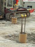 Plac budowy ciężkiej rośliny wyposażenie Fotografia Stock