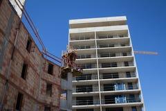 Plac budowy nowe budowy Obrazy Stock