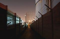 Plac budowy przy nocą Obraz Royalty Free