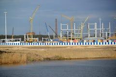 Plac budowy stadium dla nieść out gry FIFA puchar świata 2018 Kaliningrad Zdjęcia Stock