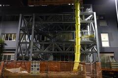 Plac budowy z gruzowym konwejerem Fotografia Royalty Free