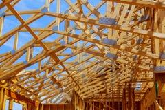 Plac budowy z Nowym domowym otokowym placem budowy z promieniem, w budowie Zdjęcia Royalty Free