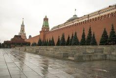 Plac Czerwony jest jeden sławni Rosja ` s miejsca interes Ono lokalizuje dobrze w sercu Moskwa Obraz Stock