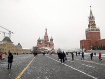 Plac Czerwony Moscow w zimie zdjęcie royalty free